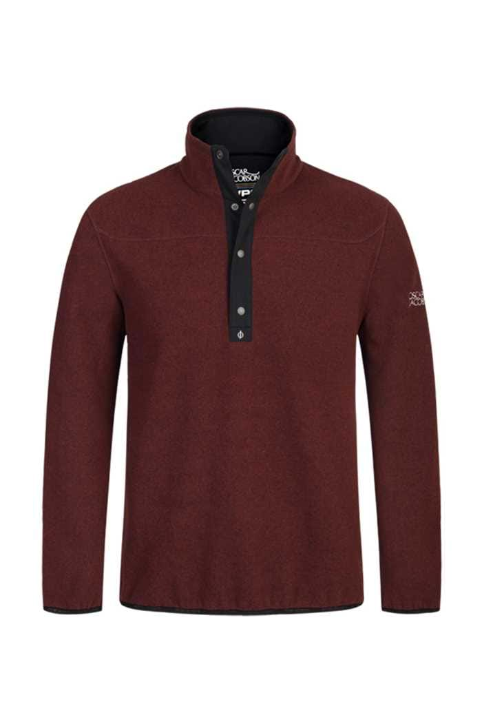 Picture of Oscar Jacobson ZNS Norris Fleece Sweater - Burgundy