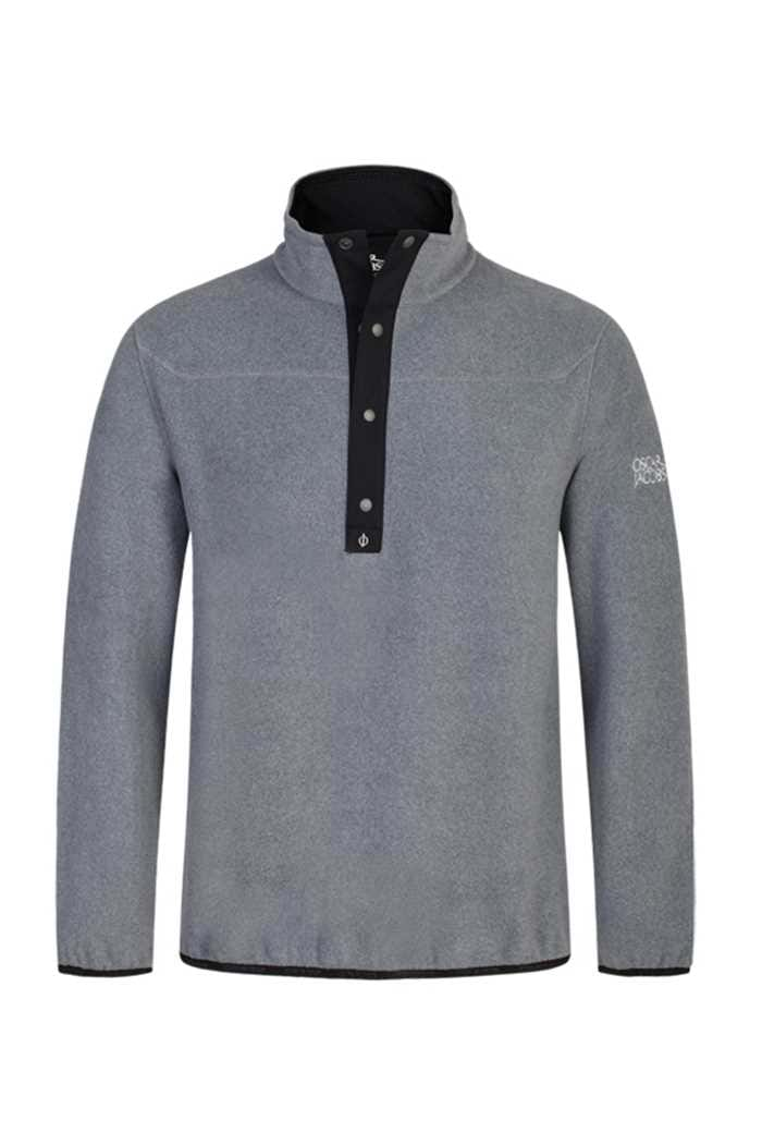 Picture of Oscar Jacobson ZNS Norris Fleece Sweater - Grey/Black