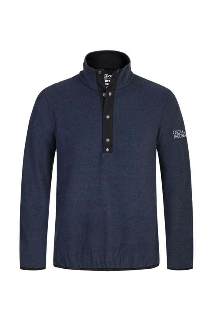 Picture of Oscar Jacobson ZNS Norris Fleece Sweater - Navy