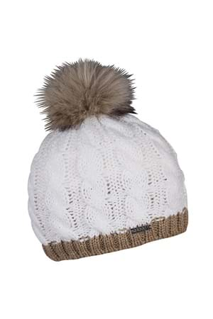 Picture of Sabbot Andrea Contrast Cable Pompom Beanie - White