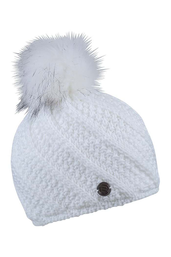 Picture of Sabbot Marta zns Cable PomPom Beanie - White