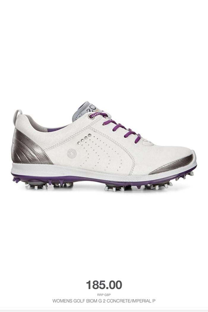 Picture of Ecco ZNS Ladies Golf Biom G2 Golf Shoes - Concrete/Imperial Purple