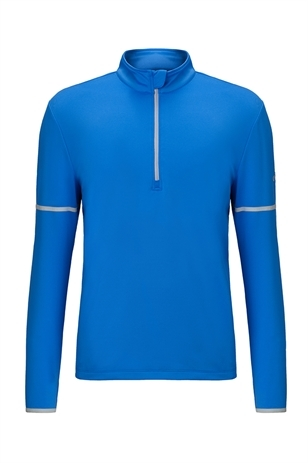 Picture of Callaway Long Sleeve 1/4 Zip Mid Layer Sweater - Palace Blue