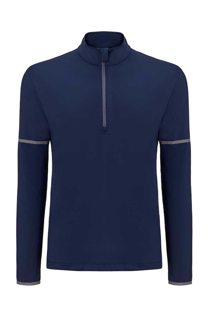 Picture of Callaway zns Long Sleeve 1/4 Zip Mid Layer Sweater - Peacoat