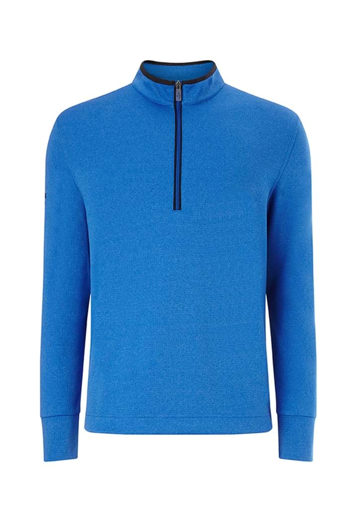 Picture of Callaway Men's 1/4 Zip Waffle Fleece Sweater - Magnetic Blue