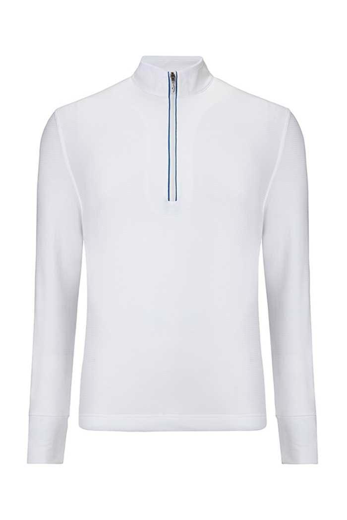 Picture of Callaway ZNS Men's 1/4 Zip Waffle Fleece Sweater - Bright White