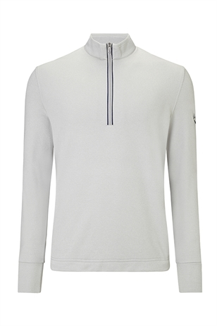 Picture of Callaway Men's 1/4 Zip Waffle Fleece Sweater - Hi Rise Heather