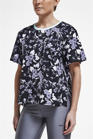 Picture of Rohnisch Bodil Tee Top - Black Butterfly