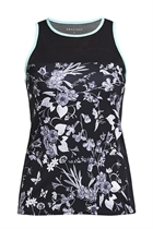 Picture of Rohnisch Hannah Run Singlet - Black Butterfly