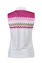 Picture of Daily Sports ZNS Lucy Sleeveless Polo Shirt - Raspberry