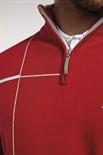 Picture of Glenmuir Warren Zip Neck Stripe Sweater - Garnet/Stardust Marl