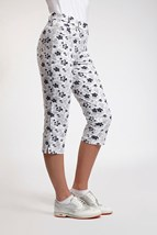Picture of Glenmuir Matilda Patterned Capri - White/Stardust/Navy