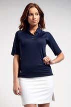 Picture of Glenmuir ZNS Renee Piped Performance Polo Shirt - Navy