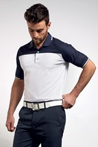 Picture of Glenmuir Fredrick Polo Shirt - White/Navy