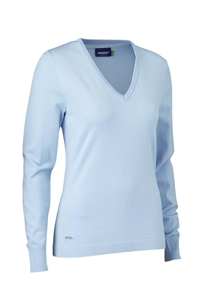 Picture of Daily Sports zns Zoie V Neck Pullover - Light Blue