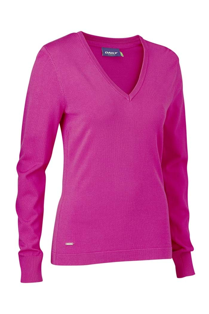 Picture of Daily Sports zns Zoie V-Neck Pullover - Raspberry