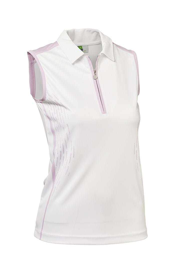 Picture of Daily Sports CHECK Memphis Sleeveless Polo Shirt - Rose