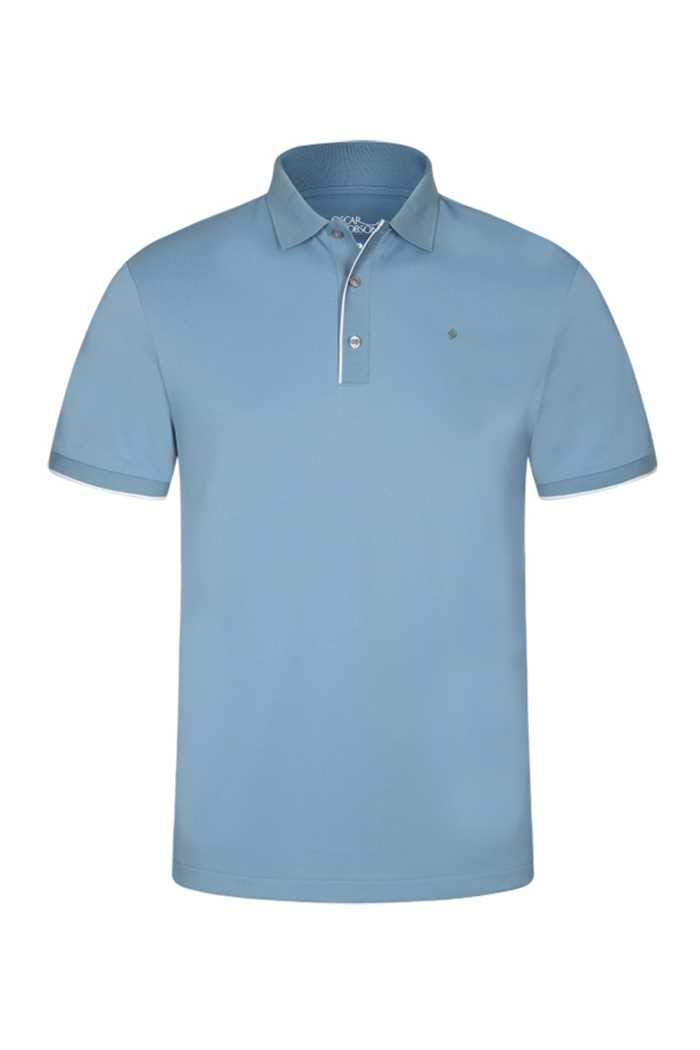 Picture of Oscar Jacobson ZNS Ivo Pin Polo Shirt - Sky Blue