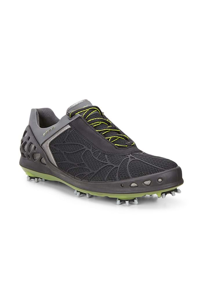 Picture of Ecco Ladies zns Cage Textile Golf Shoe - Black/Silver/Lime