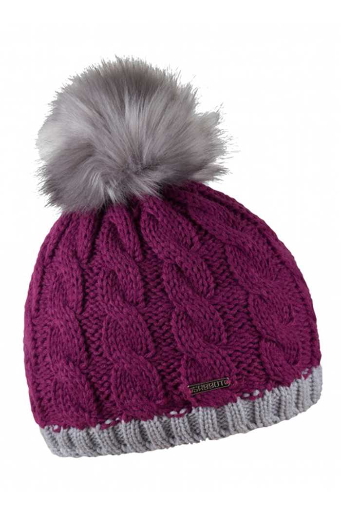 Picture of Sabbot zns Andrea Contrast Cable Pompom Beanie - Magenta