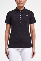 Picture of Rohnisch ZNS Ally Polo Shirt - Clover Emboss Black