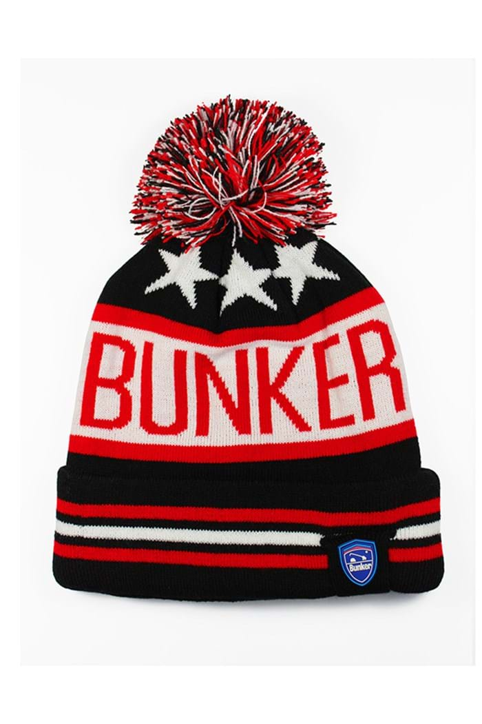 Picture of Bunker Mentality zns  Star Bobble Hat - Black