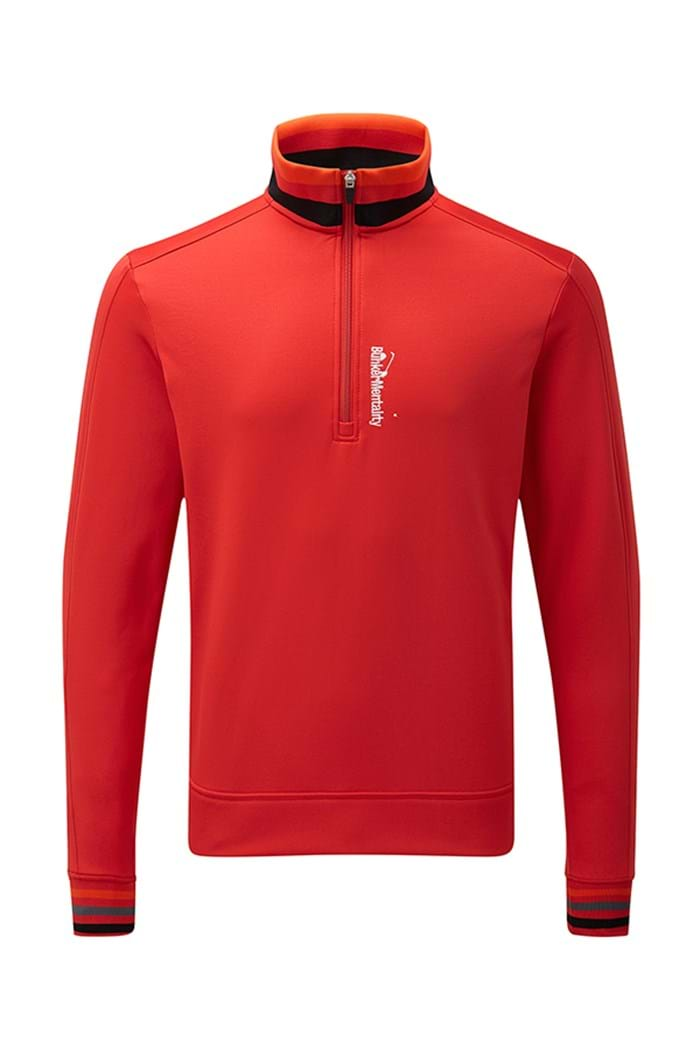 Picture of Bunker Mentality Tri-Colour 1/4 Zip Top - Red