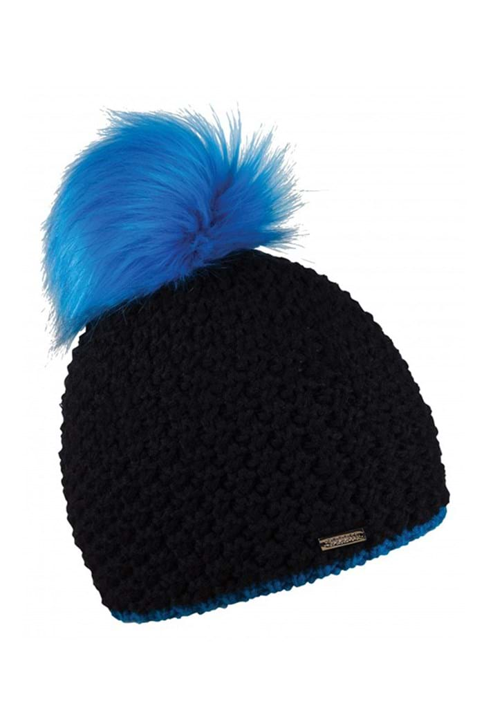 Picture of Sabbot Berta Pom Pom Hat - Black/Blue