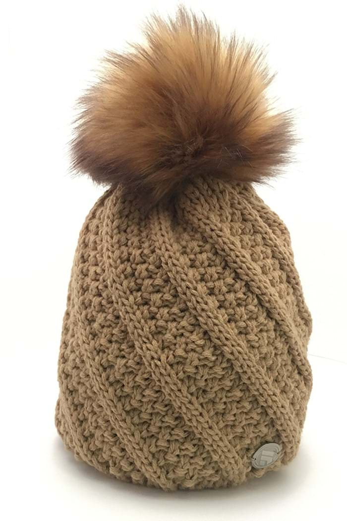 Picture of Sabbot ZNS Marta Cable PomPom Beanie - Brown