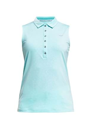 Picture of Rohnisch Ally Sleeveless Polo Shirt - Clover Emboss Fly
