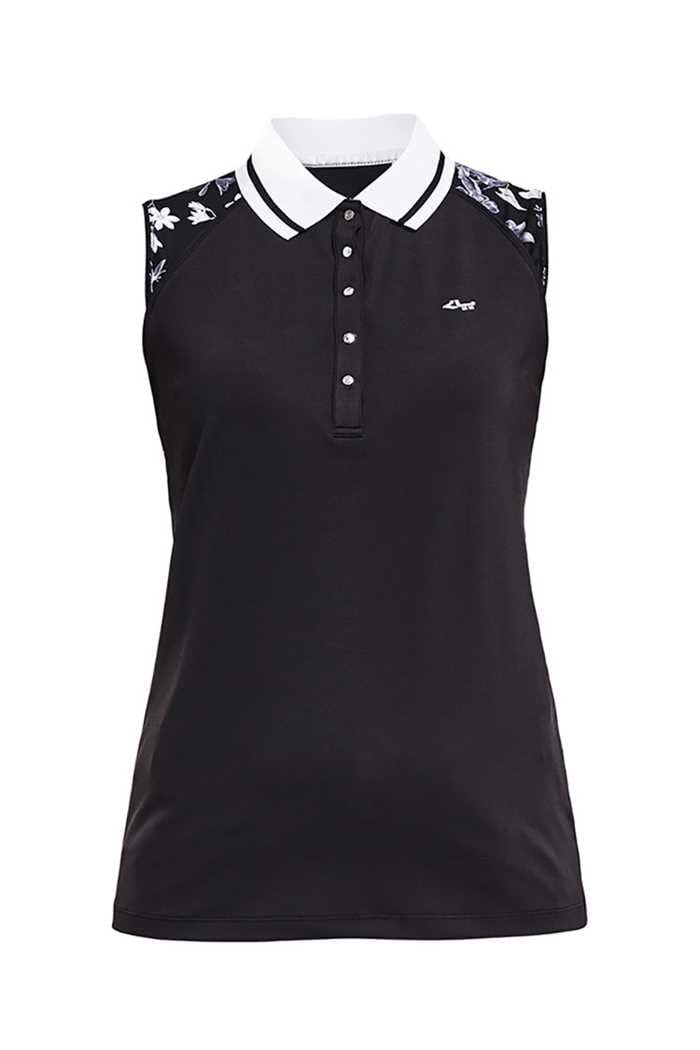 Picture of Rohnisch ZNS Ji Sleeveless Polo Shirt - Black Butterfly