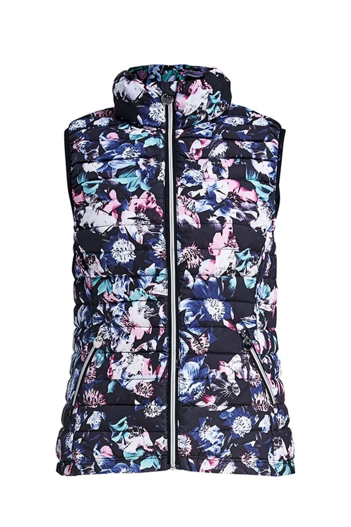 Picture of Rohnisch Light Down Vest/Gilet - Dark Midnight Garden