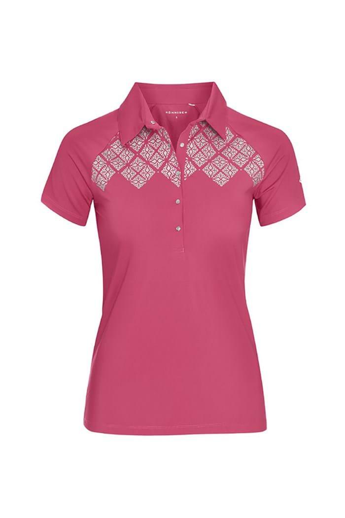 Picture of Rohnisch ZNS Tina Polo Shirt - Lingon