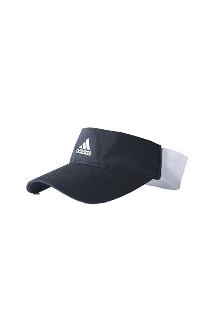 214a7705 adidas 3 Stripe Visor - Black - adidas - Eureka Golf
