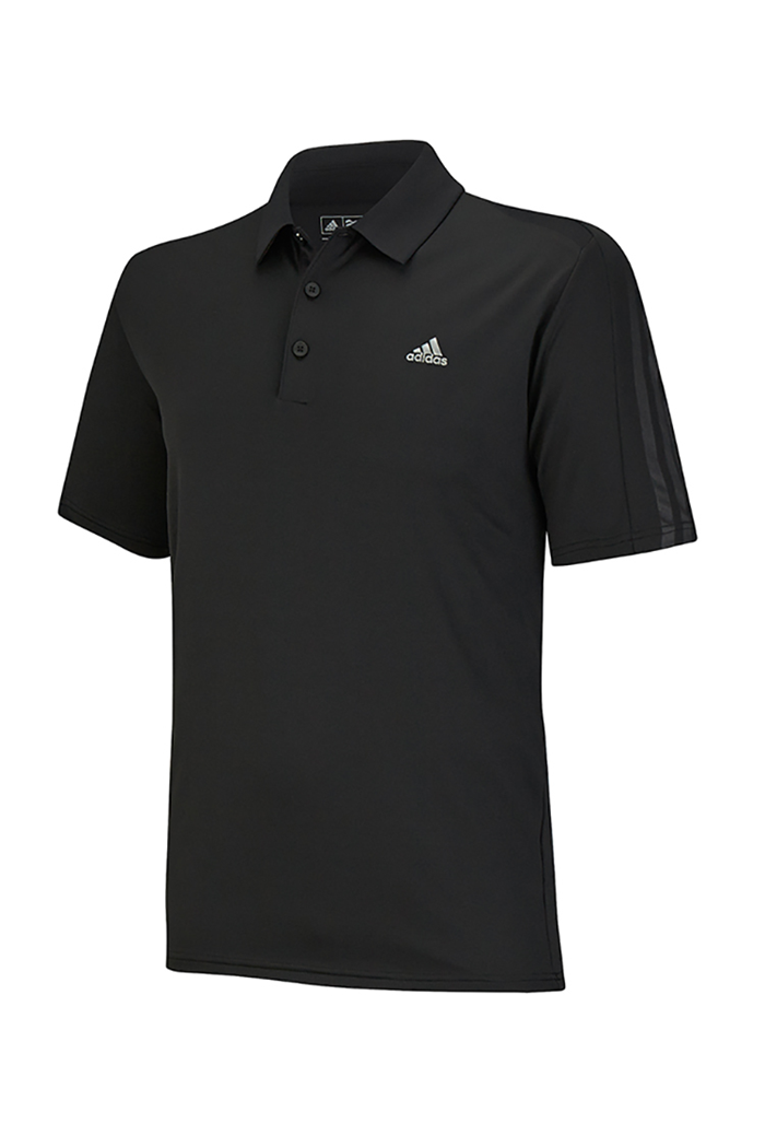 2ec4fc66902d Picture of Adidas ZNS Climacool Classic Debos 3 Stripe Polo Shirt - Black  Grey