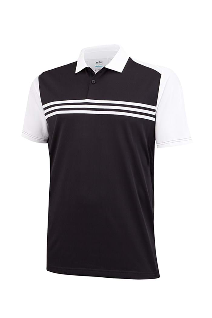 Picture of Adidas zns Climacool Sport Classic 3 Stripes Polo Shirt - Black / White