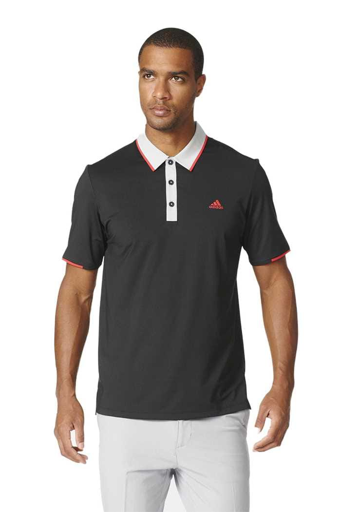 Picture of adidas Climacool Tipped Polo Shirt - Black / Stone