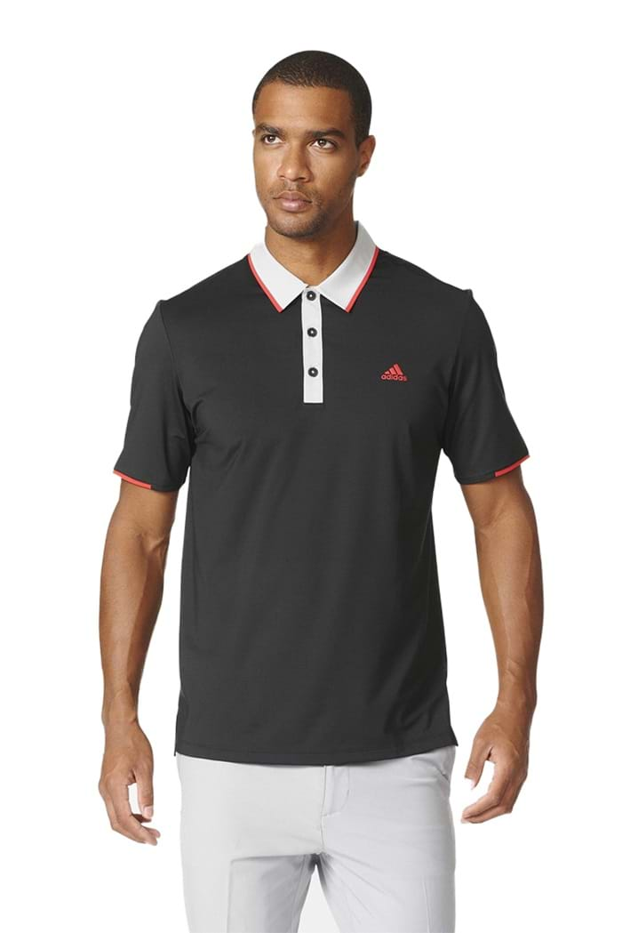 5833a73b1003 adidas Climacool Tipped Polo Shirt - Black   Stone - adidas - Eureka ...