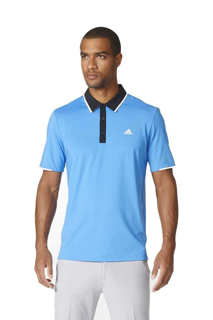 Picture of adidas Climacool Tipped Polo Shirt - Ray Blue / Black