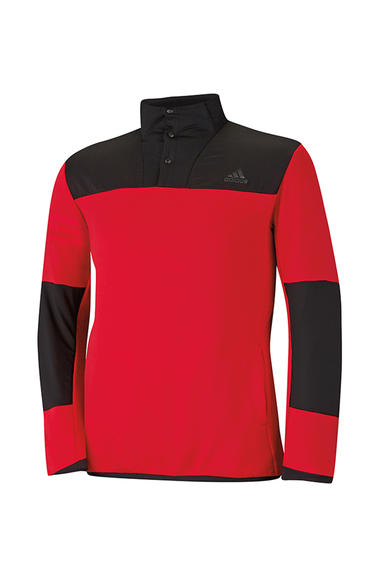 Picture of adidas Climaheat Hybrid 1/2 Zip Shell - Bold Red/Black