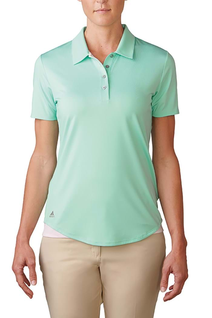 ed7d773c6e21 Picture of Adidas zns Essentials 3 stripes Short Sleeve Polo Shirt - Mint  Burst Blushing