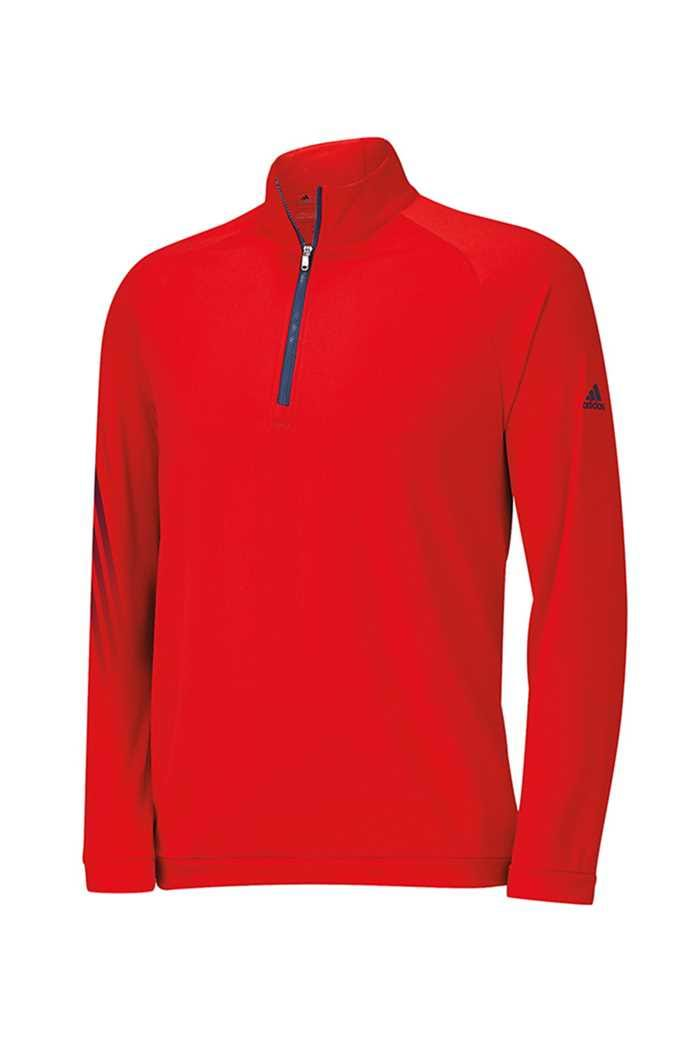 Picture of adidas zns  Junior 3 Stripes 1/2 Zip Sweater - Red/Night Marine