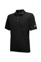 Picture of Adidas Junior Solid Jersey Polo Shirt - Black/White