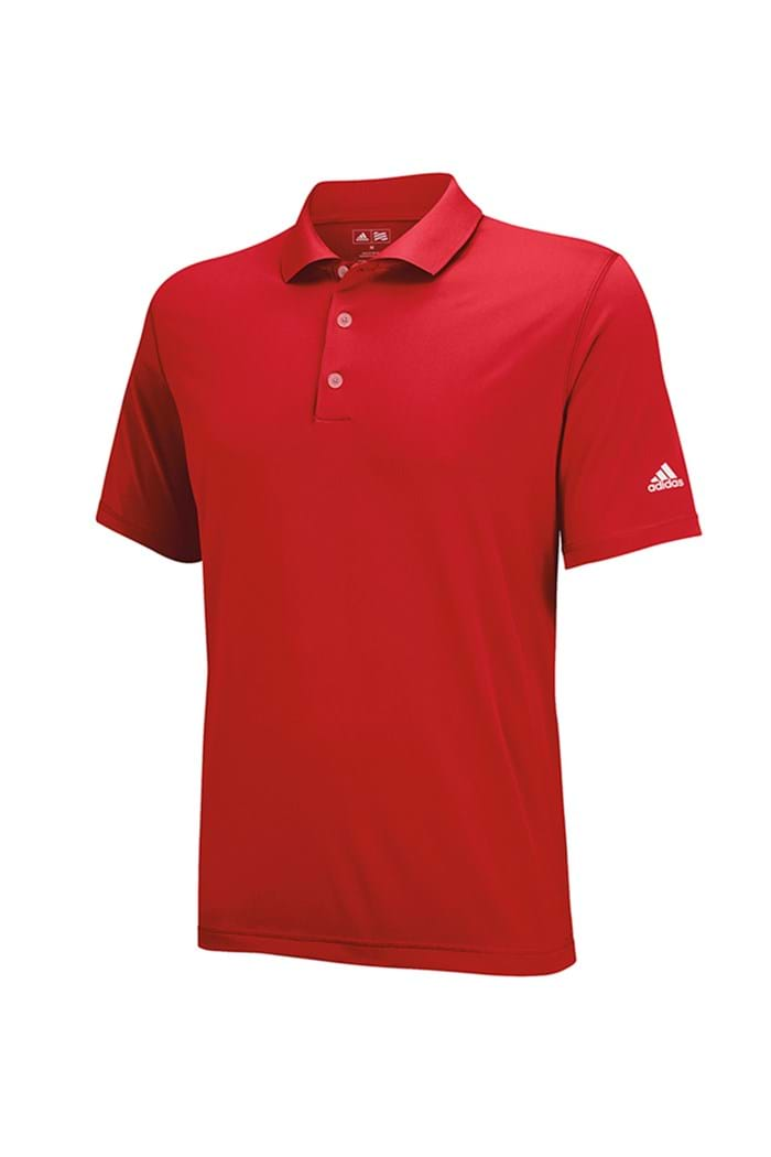 Picture of Adidas Junior Solid Jersey Polo Shirt - Red/White