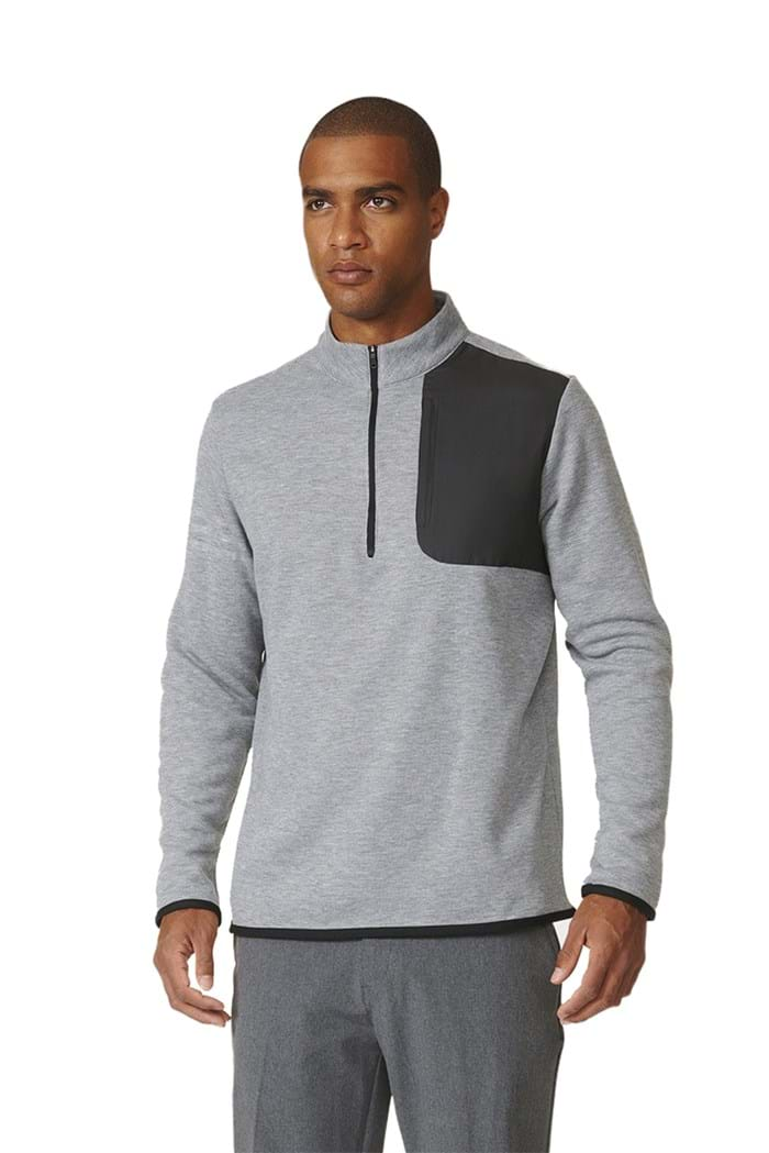 Picture of Adidas Performance 1/2 Zip Sweater - Grey Heather