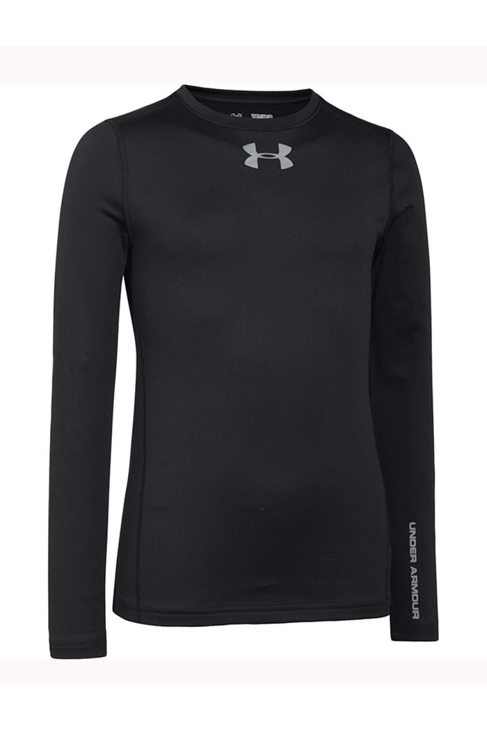 Picture of Under Armour UA Boys CG Evo Fitted LS Mock - Black