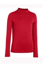 Picture of Under Armour UA Boys CG Evo fitted LS Mock - Red