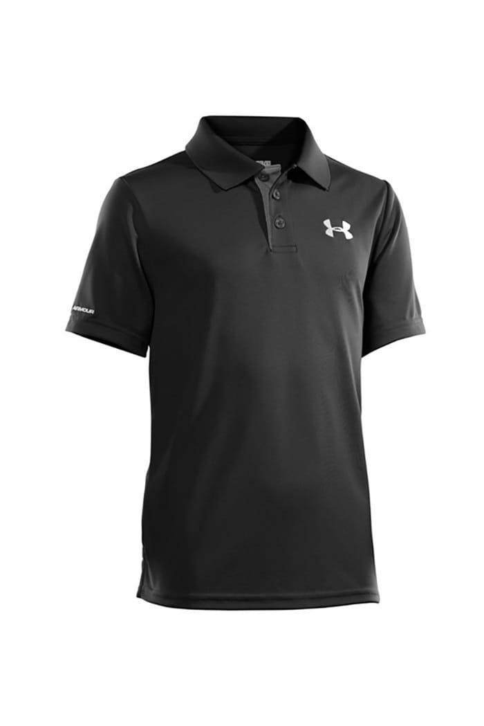 85fce1f99 Under Armour UA Matchplay Junior Polo Shirt - Black - Under Armour ...