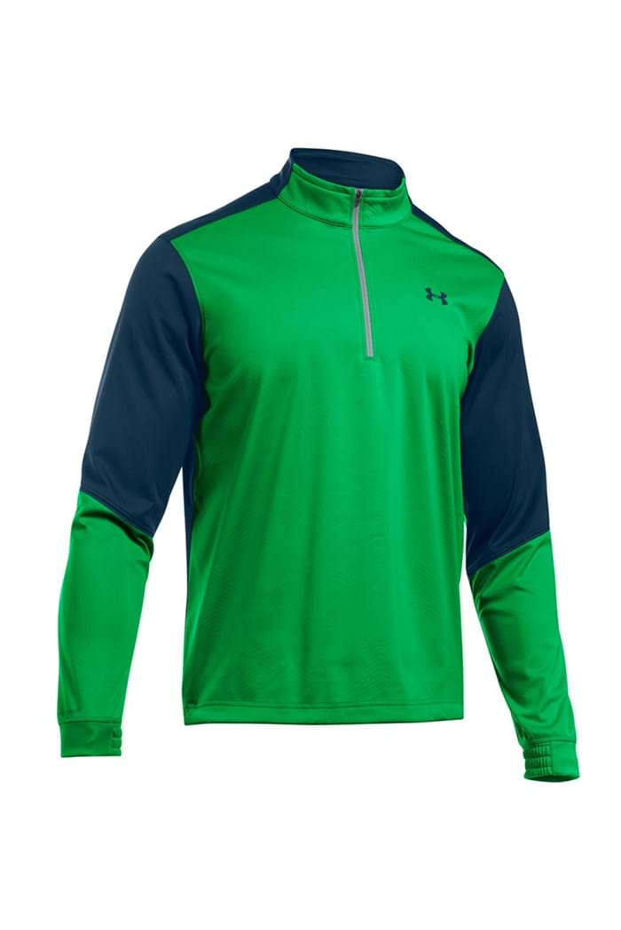 Picture of Under Armour ZNS UA Storm Coldgear Elemental 1/2 Zip Top - Putting Green/Academy