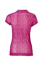 Picture of Daily Sports zns Anne Cap Sleeved Polo Shirt - Raspberry
